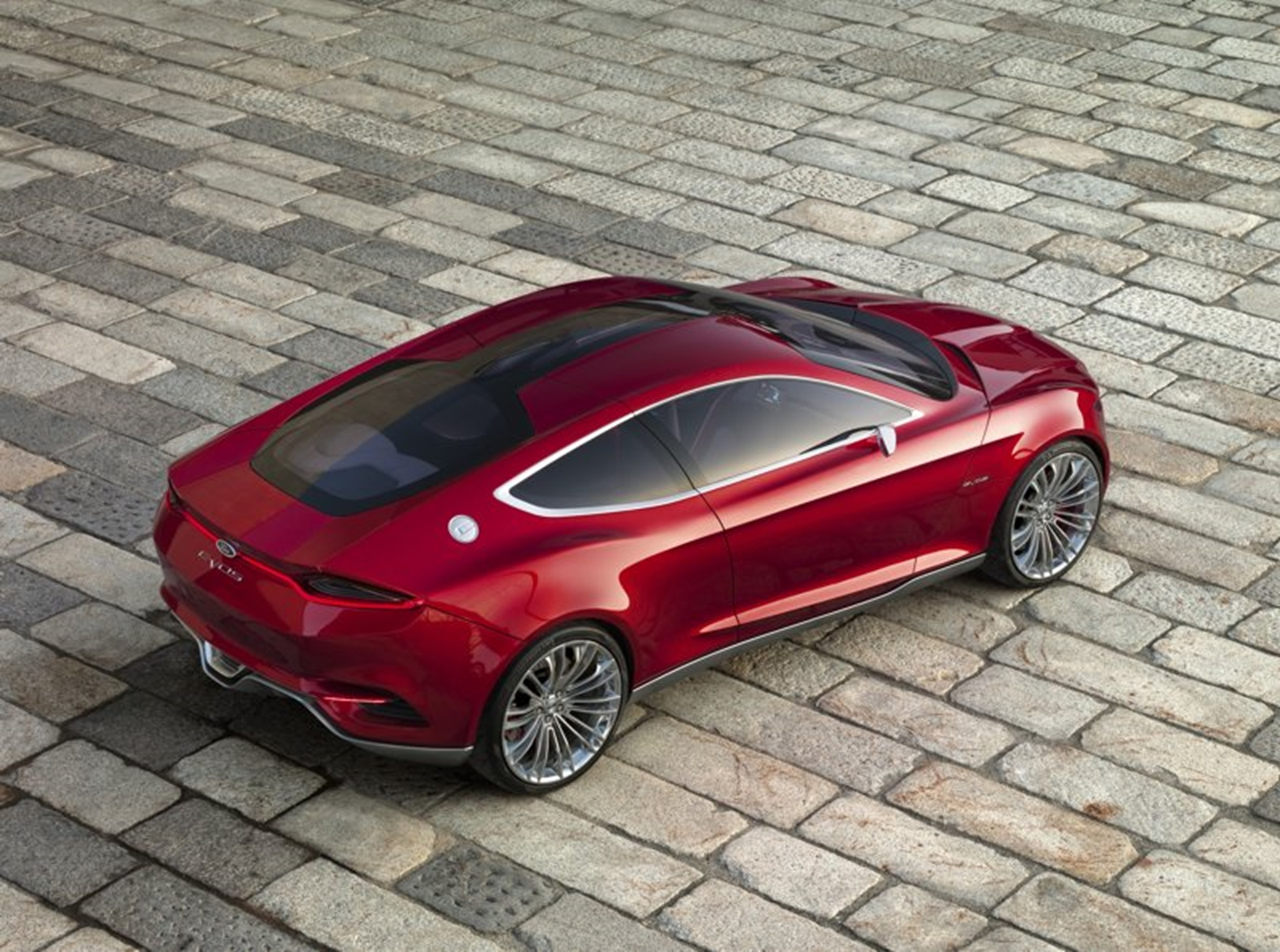 Ford Concept Car 2011 Top View Rear