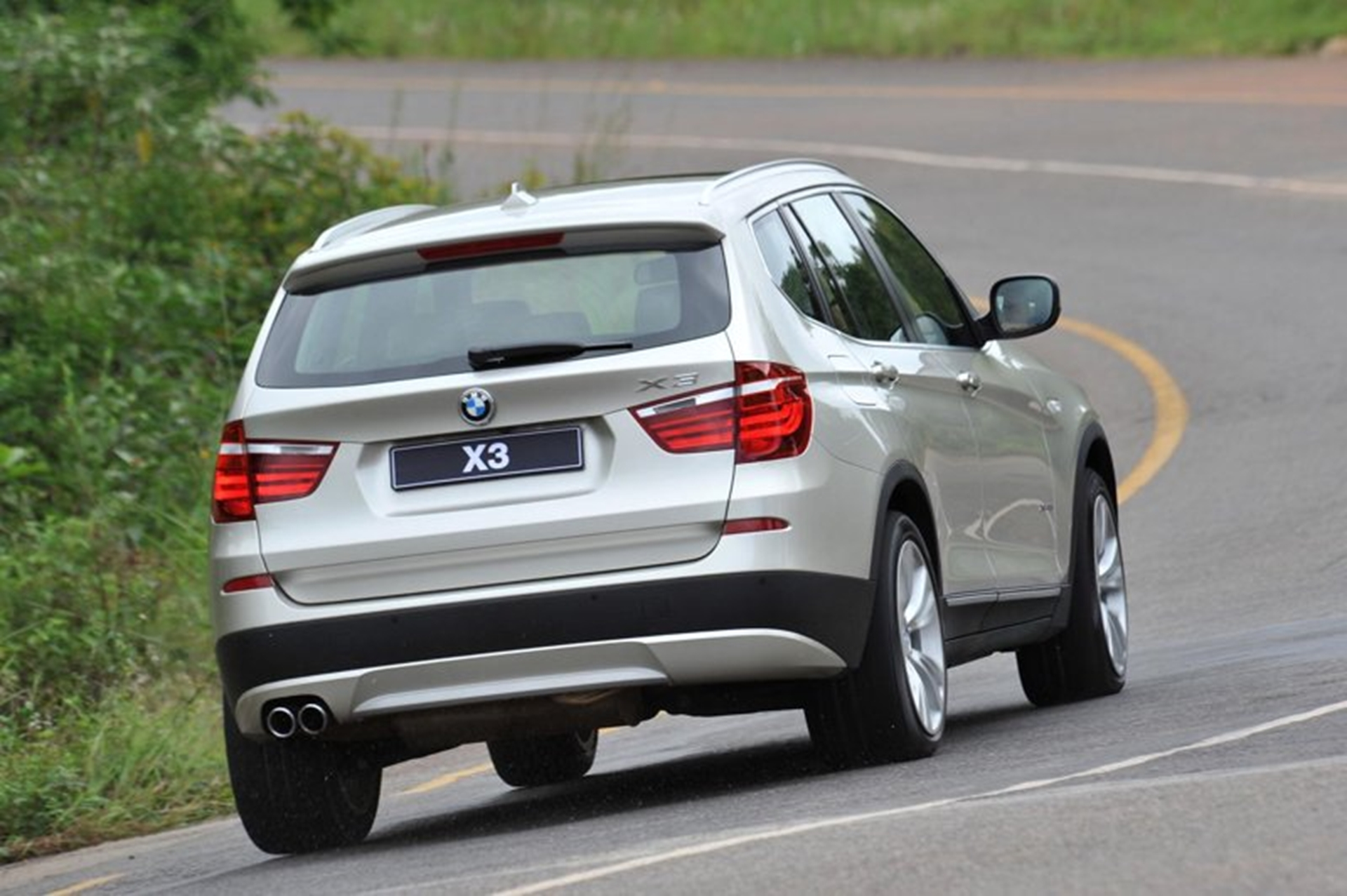 BMW X3 Rear View