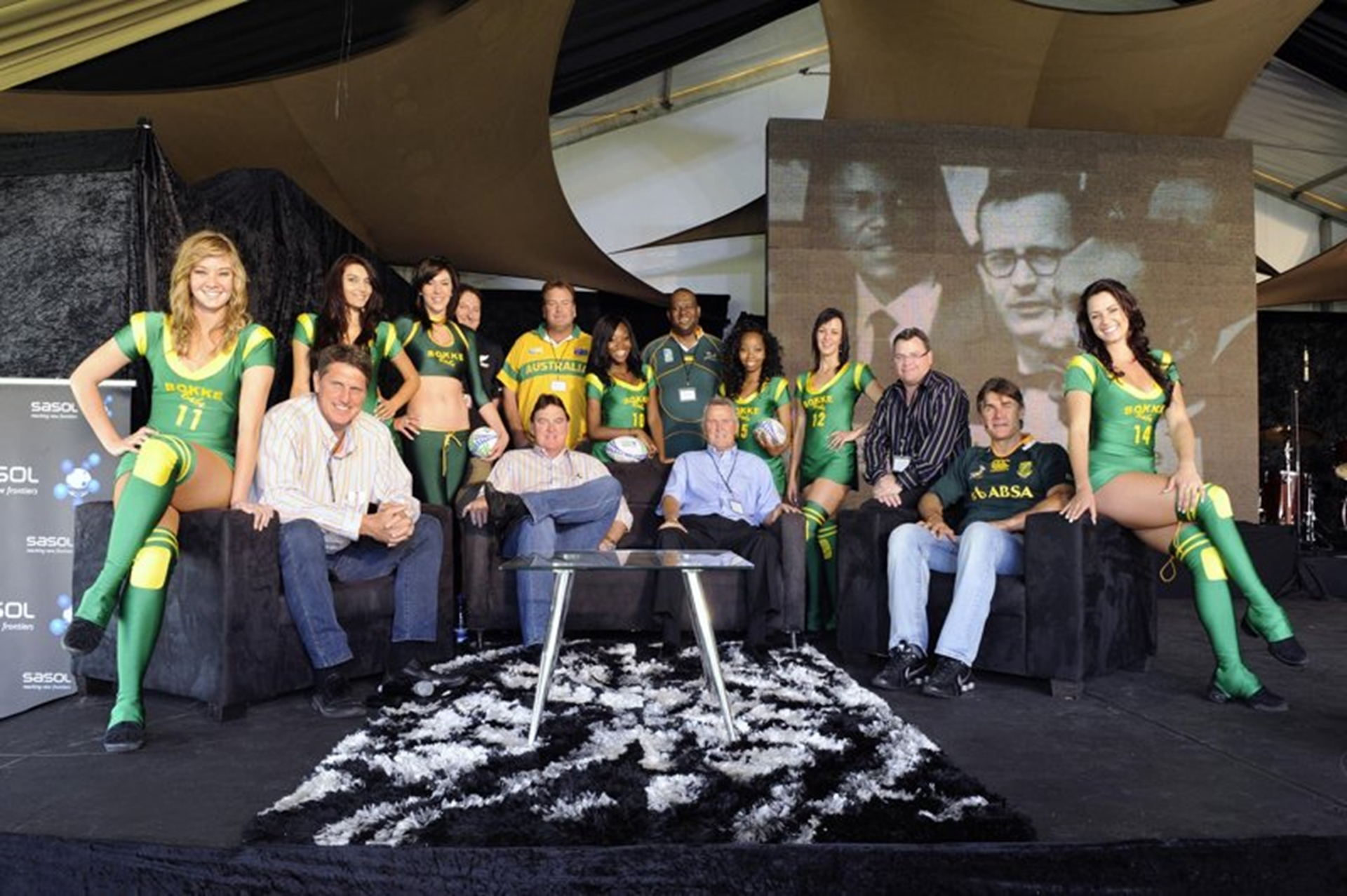 Celebrities at the Johannesburg Motor Show