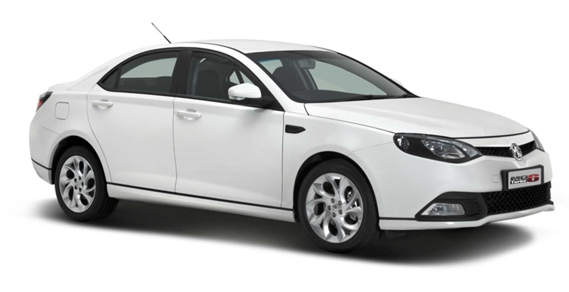 MG6 three quarter front white