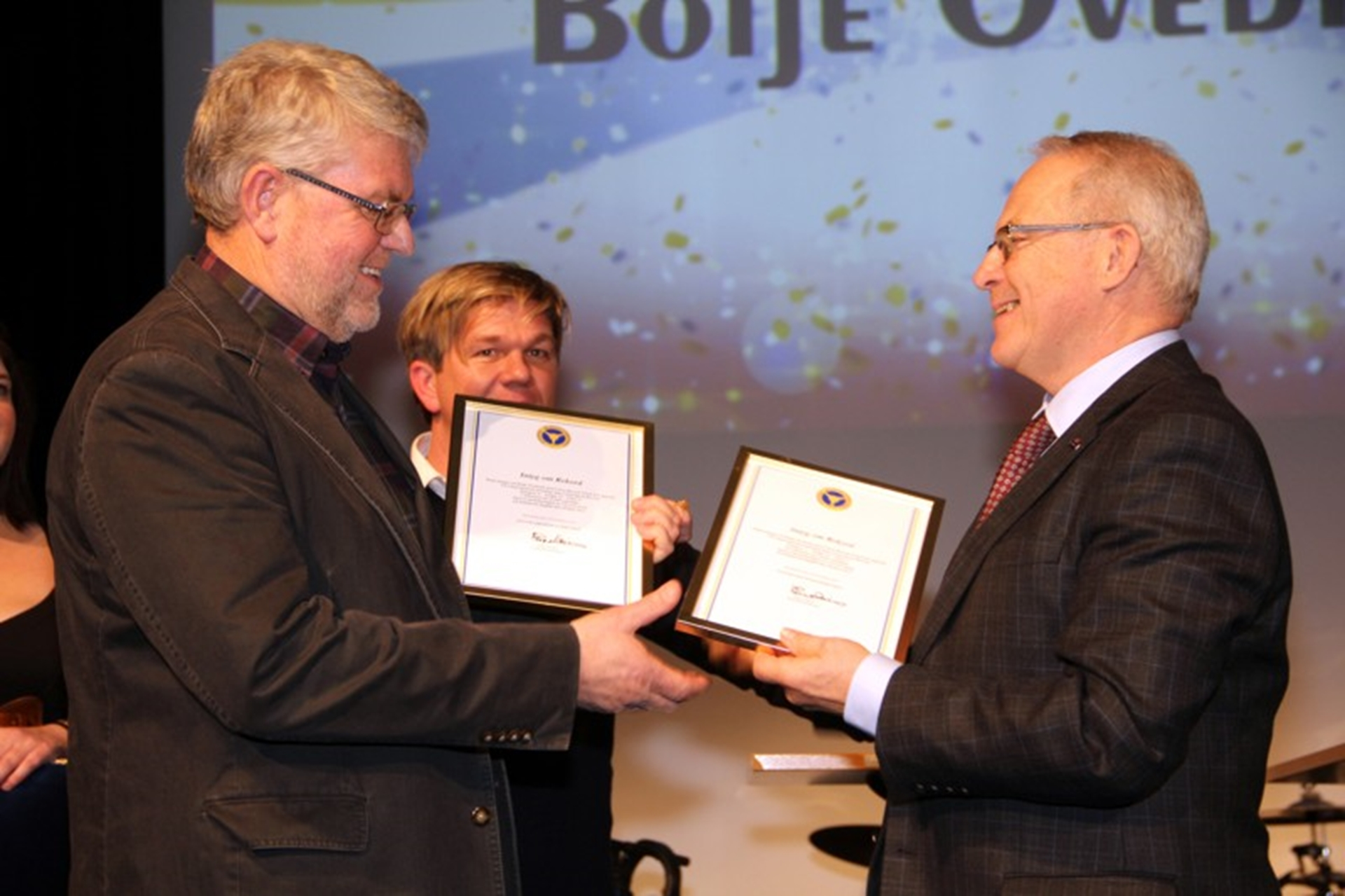 Boije Ovebrink (left) at the ceremony in Stockholm