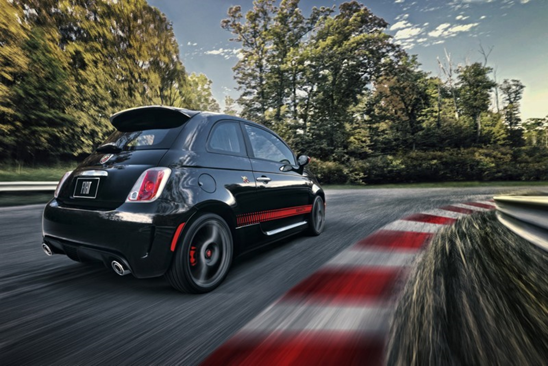 Abarth on the road