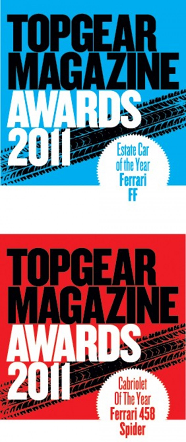 Ferrari receives two awards from BBC Top Gear Magazine