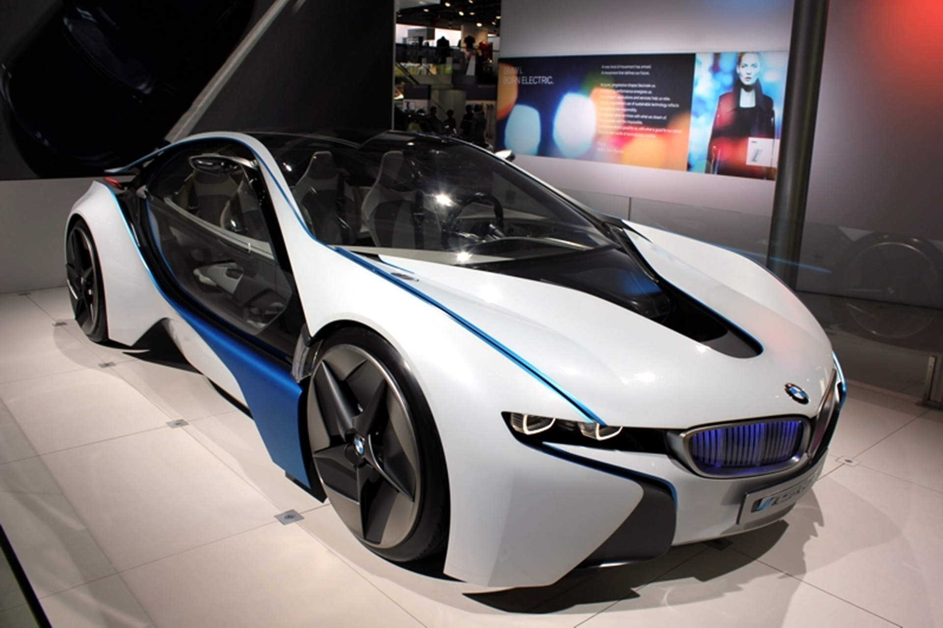 BMW Front View I Concept Electric Vehicle