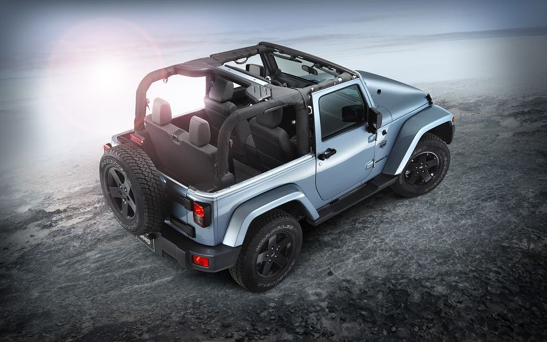 Jeep Wrangler 2012 Top View