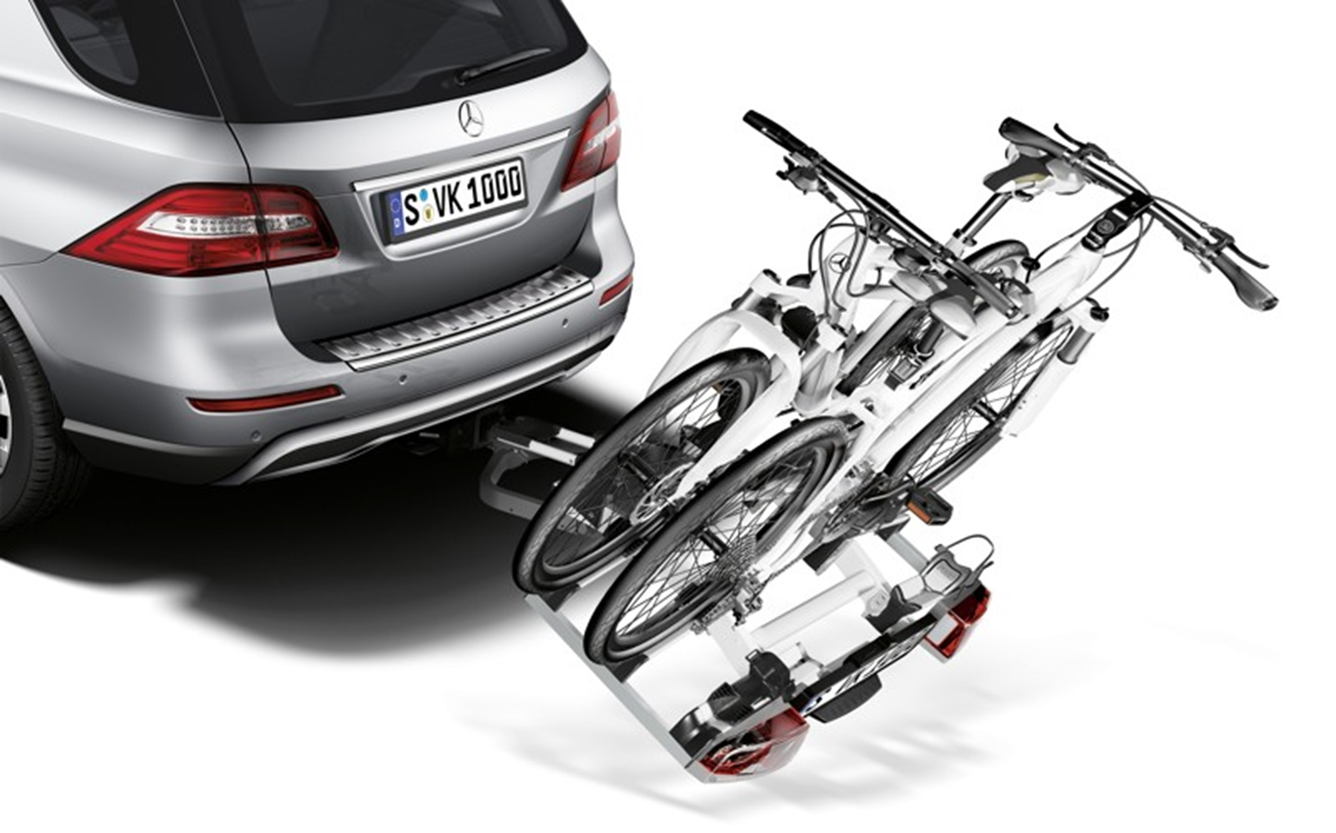 Mercedes benz new genuine accessory items for the m class for Mercedes benz bicycle rack