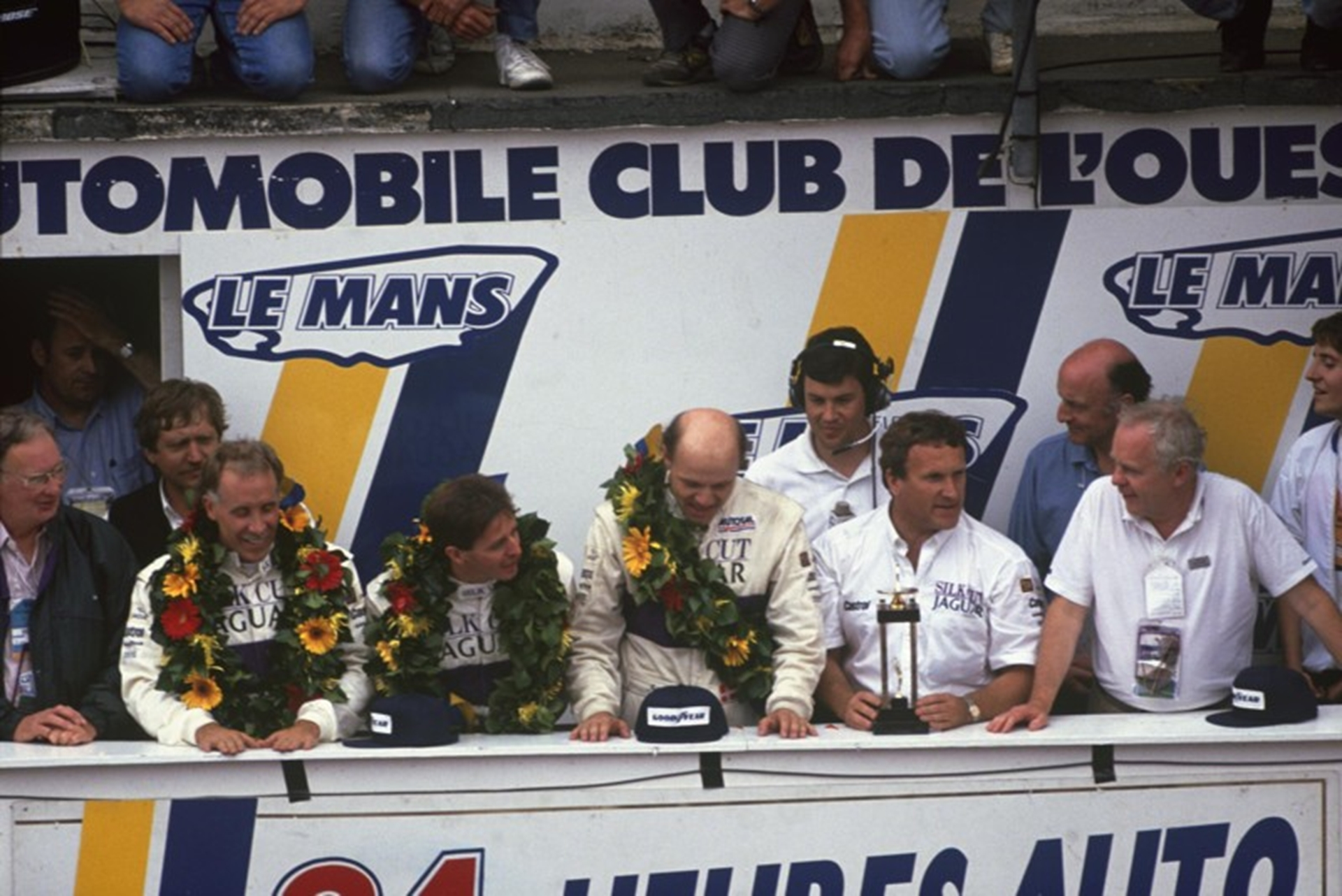 Martin Brundle winning at Le Mans in 1990