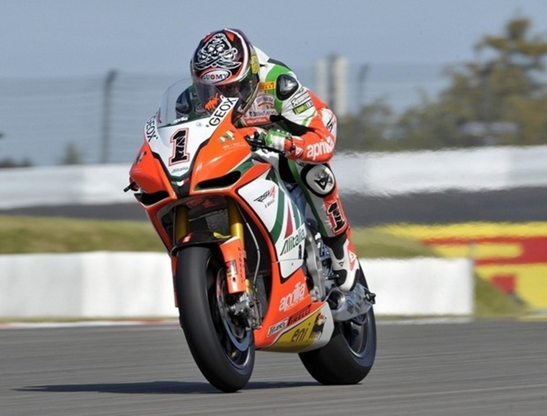 Max Biaggi's Aprilia RSV4 World Superbike