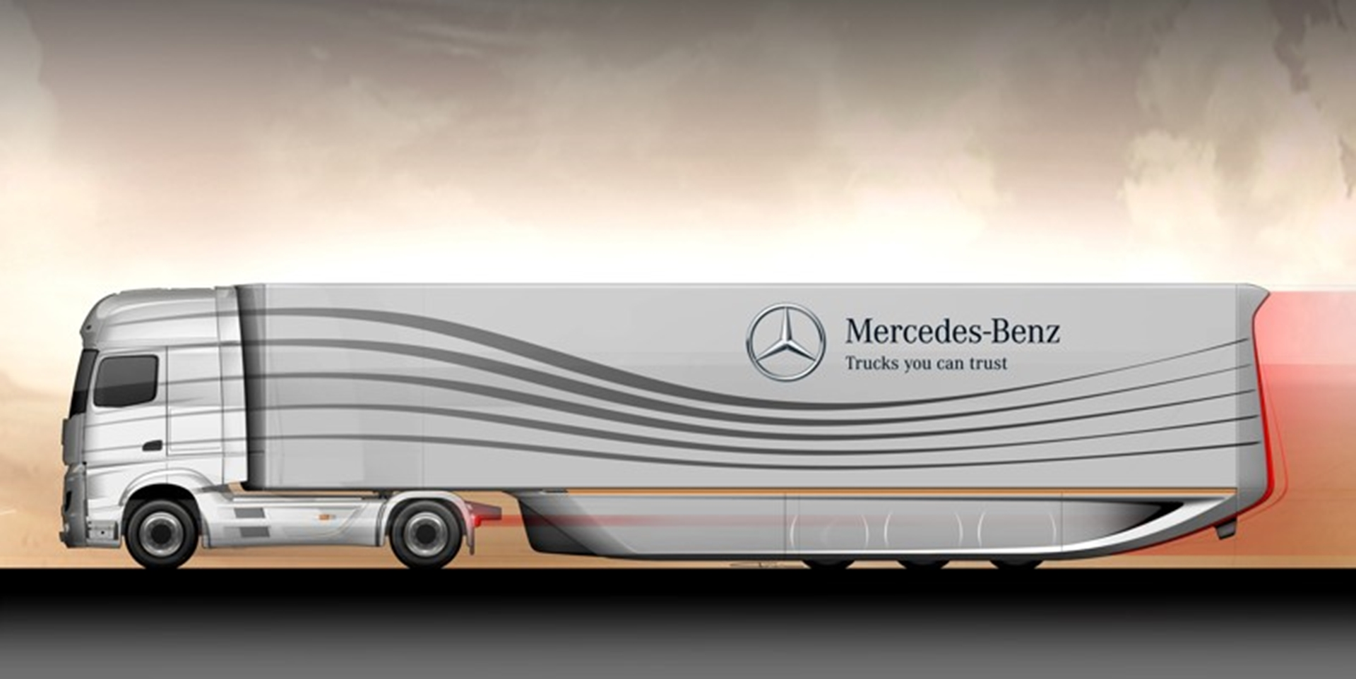 Mercedes Benz Aero trailer