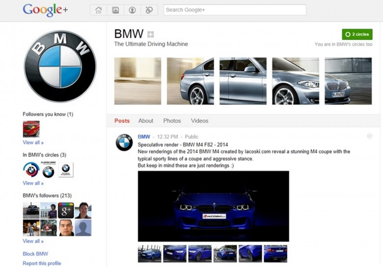 BMW Google Pages