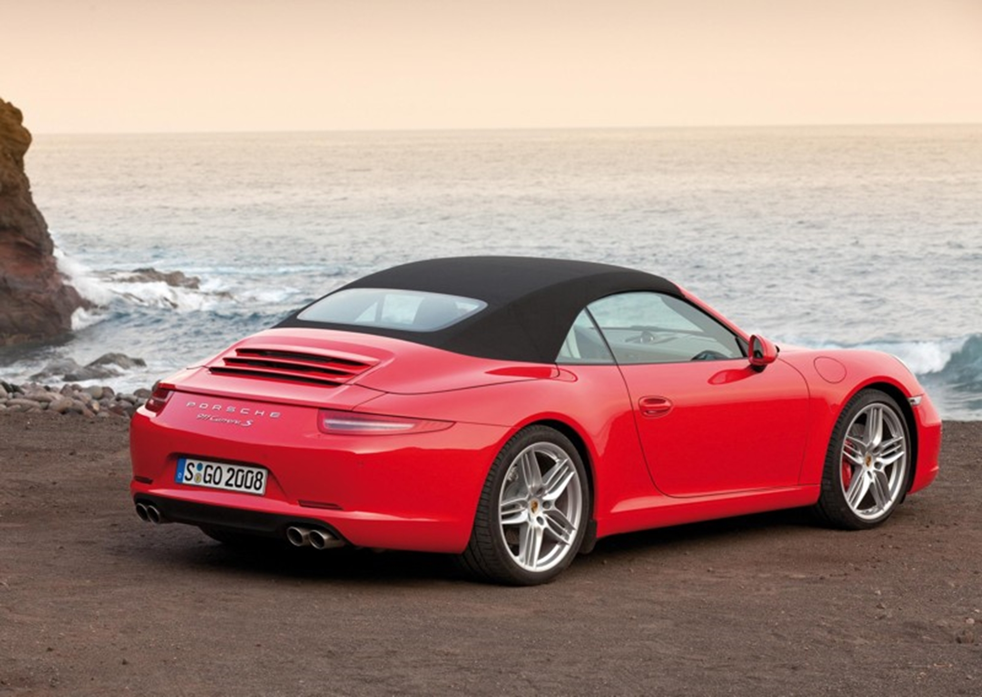 New Porsche Red Soft Top