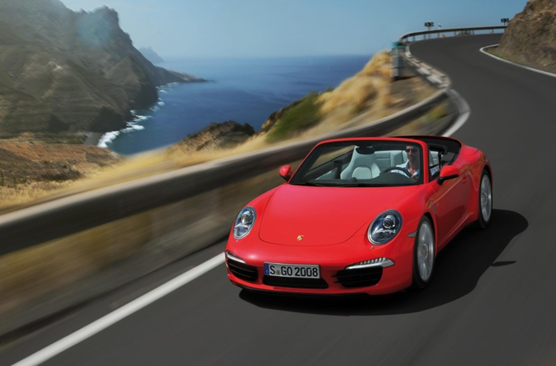 Porsche Carrera Cabriolet 2012 Red