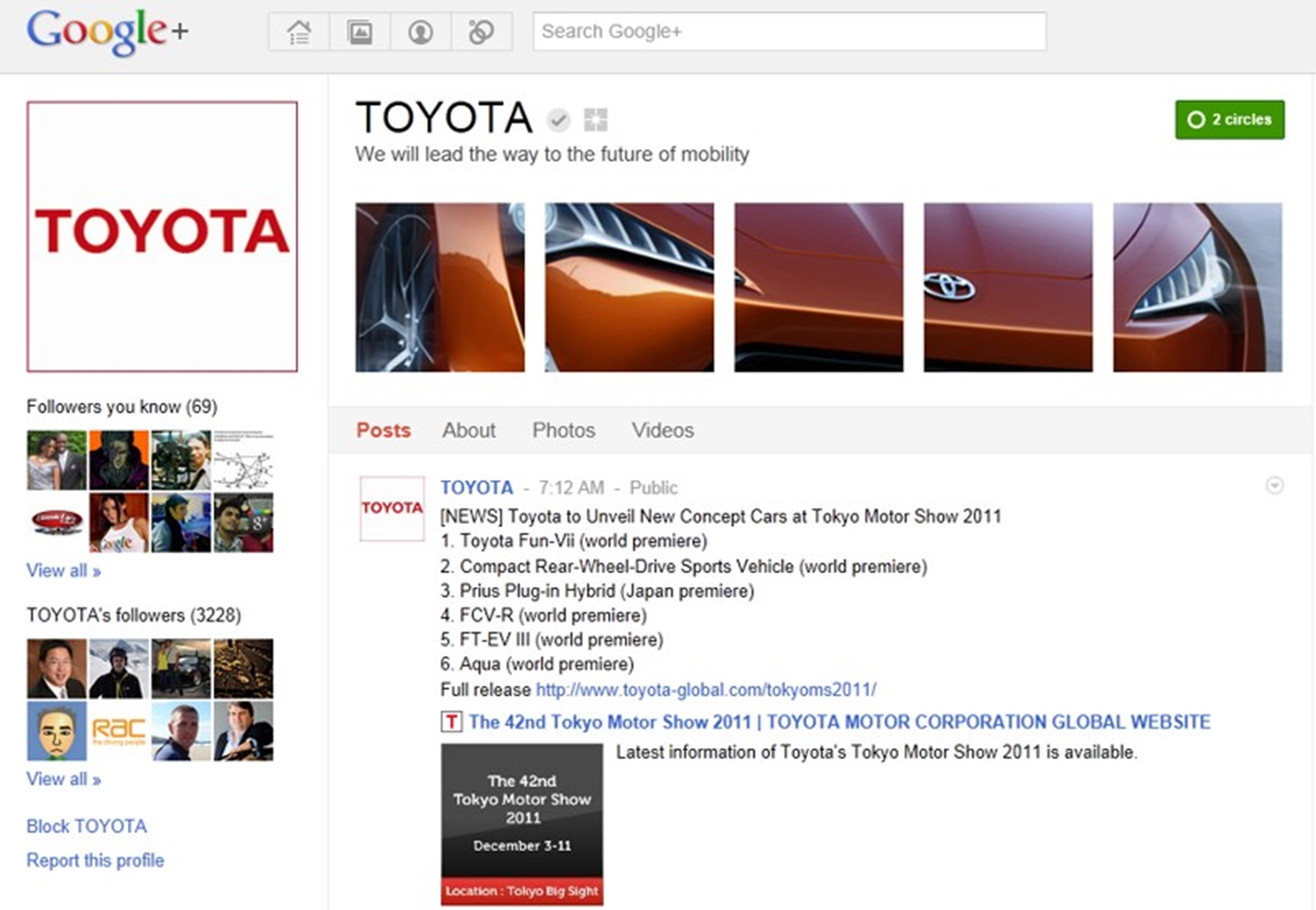Toyota on Google Plus