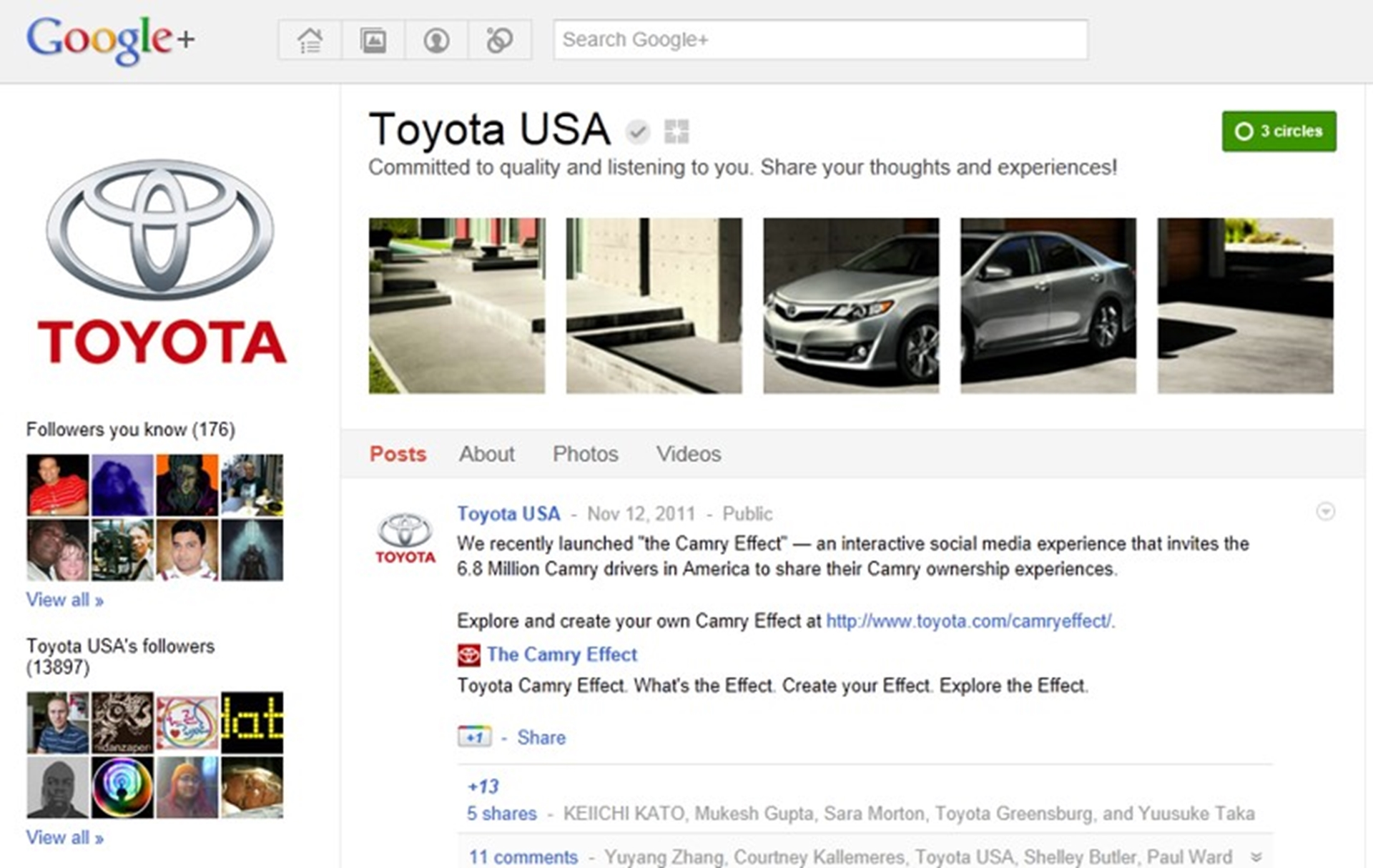 Toyota USA on Google Plus