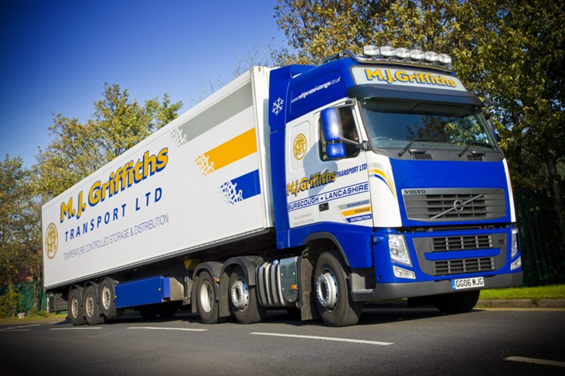 M J Griffiths Transport Ltd's new Volvo FH-500