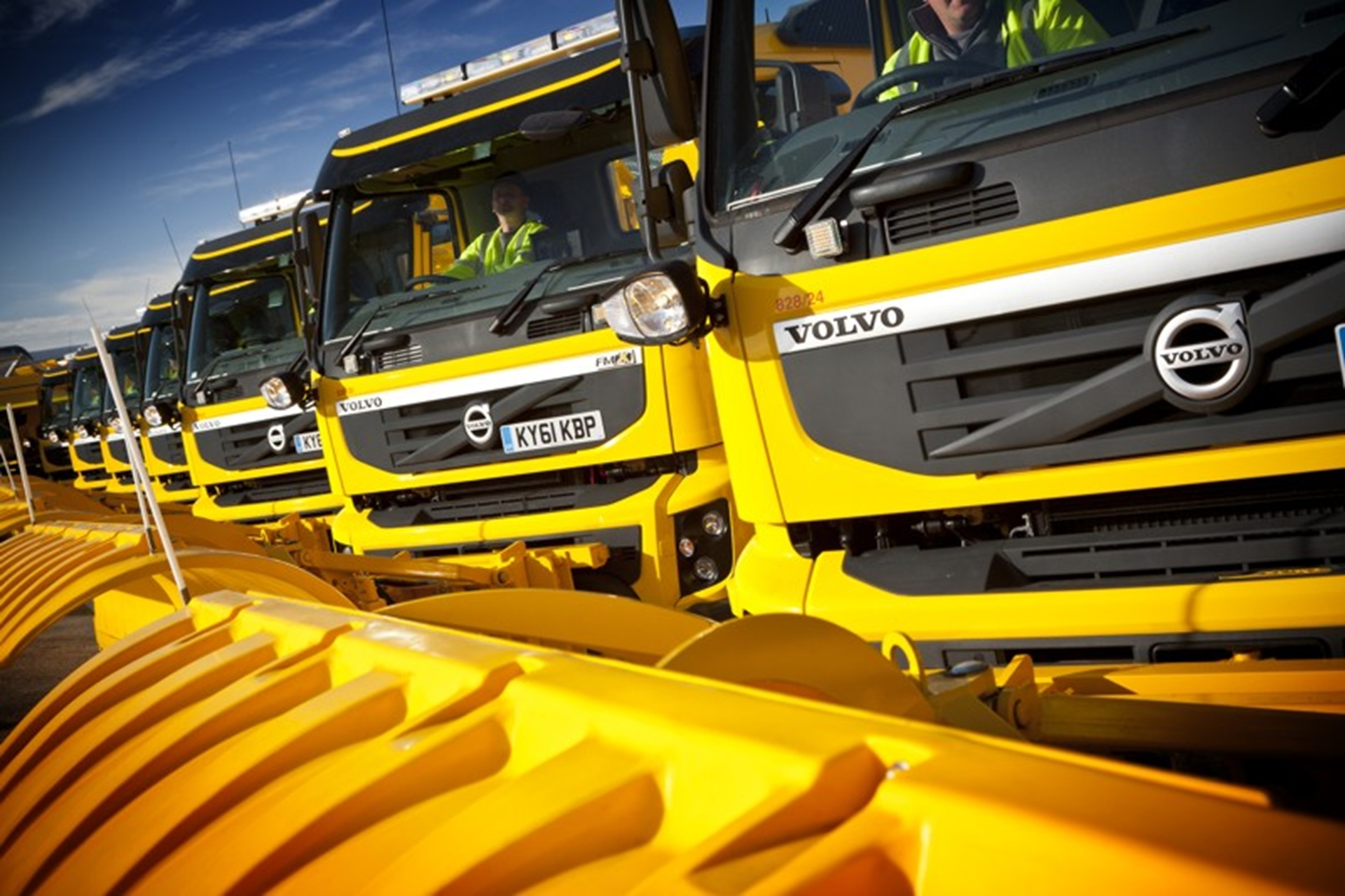 South Gloucestershire Council's eleven new Volvo FMX snowploughs