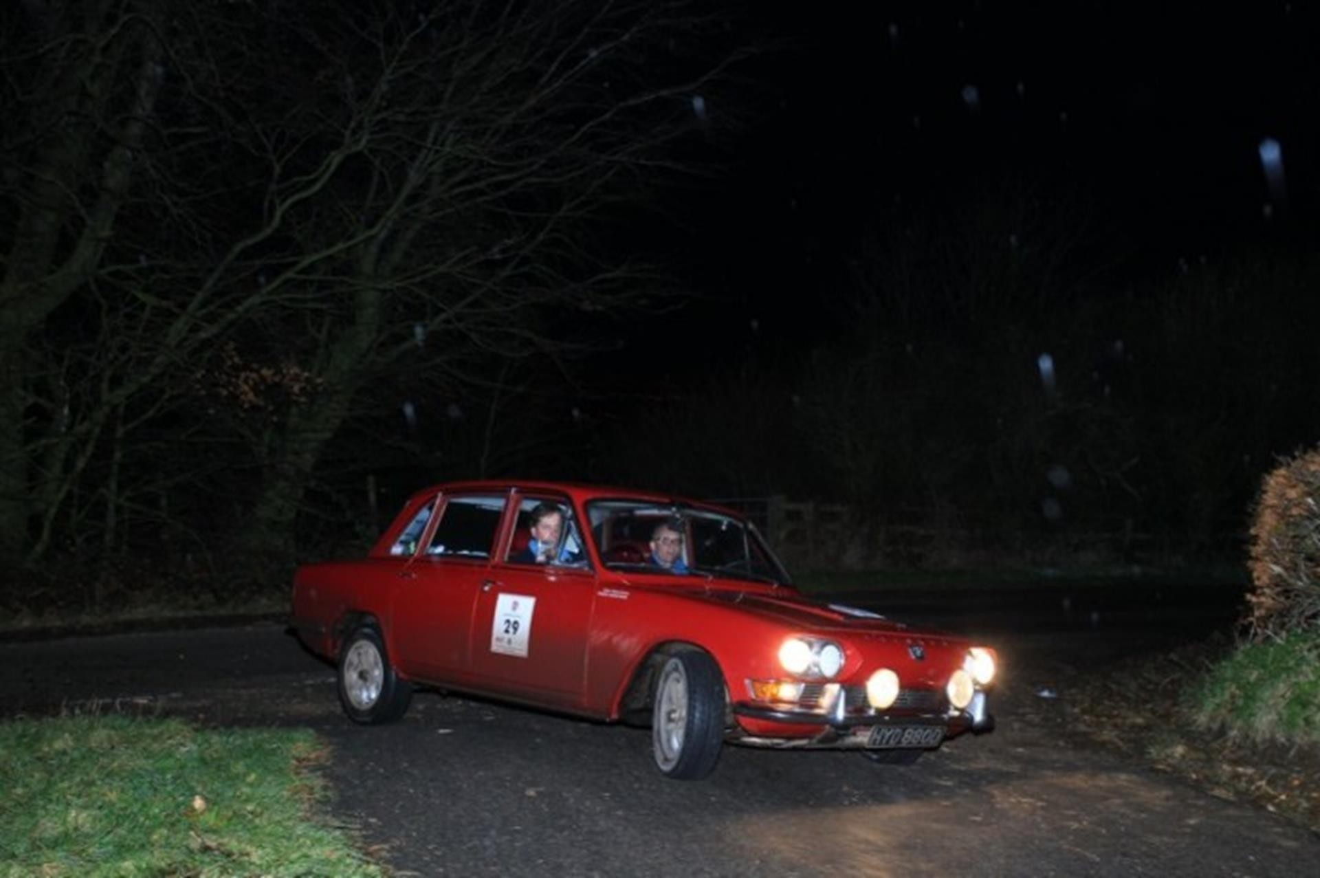 Second overall, car 29, a 1966 Triumph 2000
