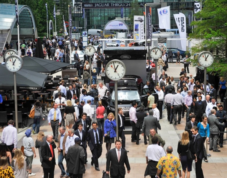 Crowds at the 2011 London Motorexpo