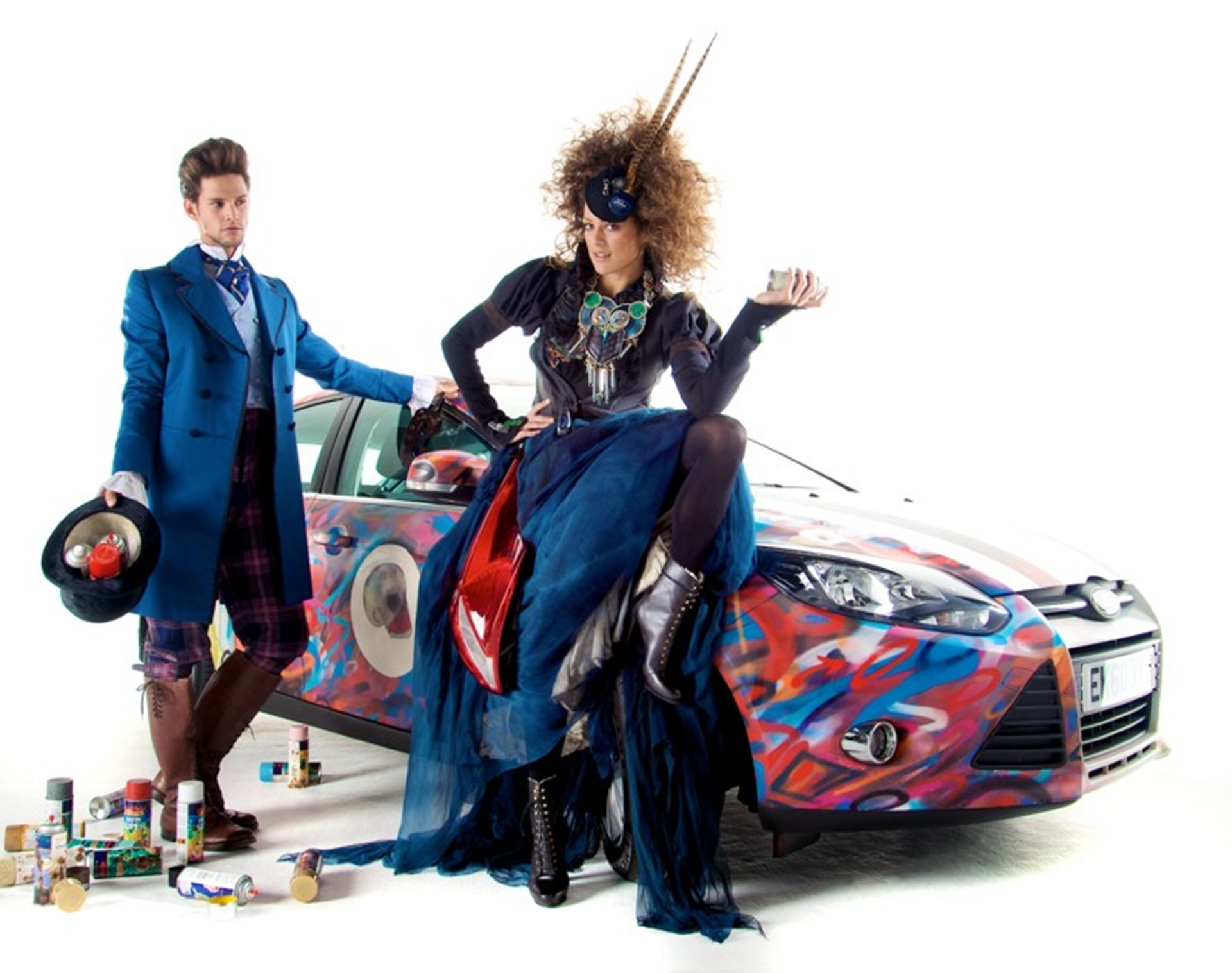 Ford Model in Focus parts dress designed by Judy Clark