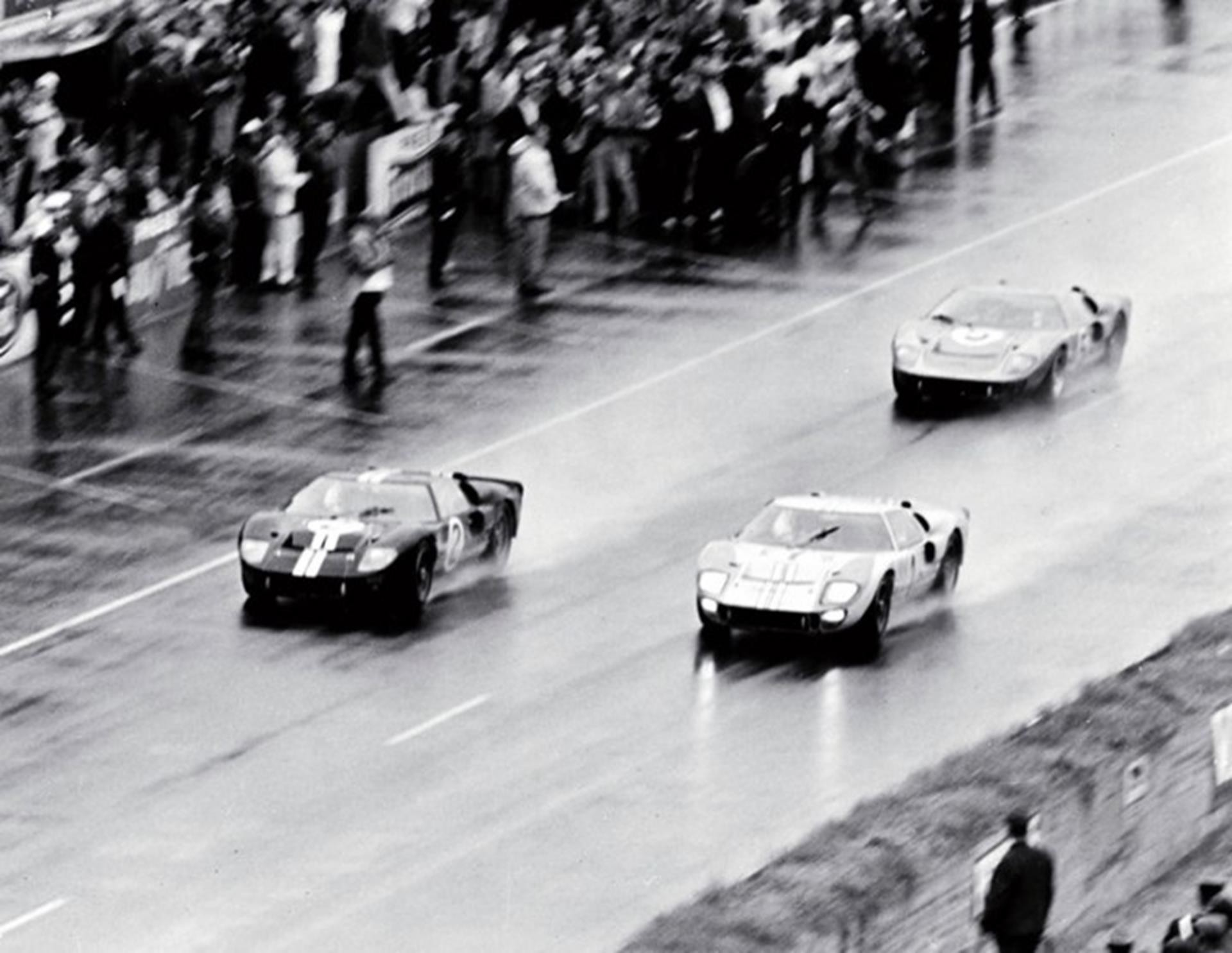 1966 Ford GT40s claim first, second and third place