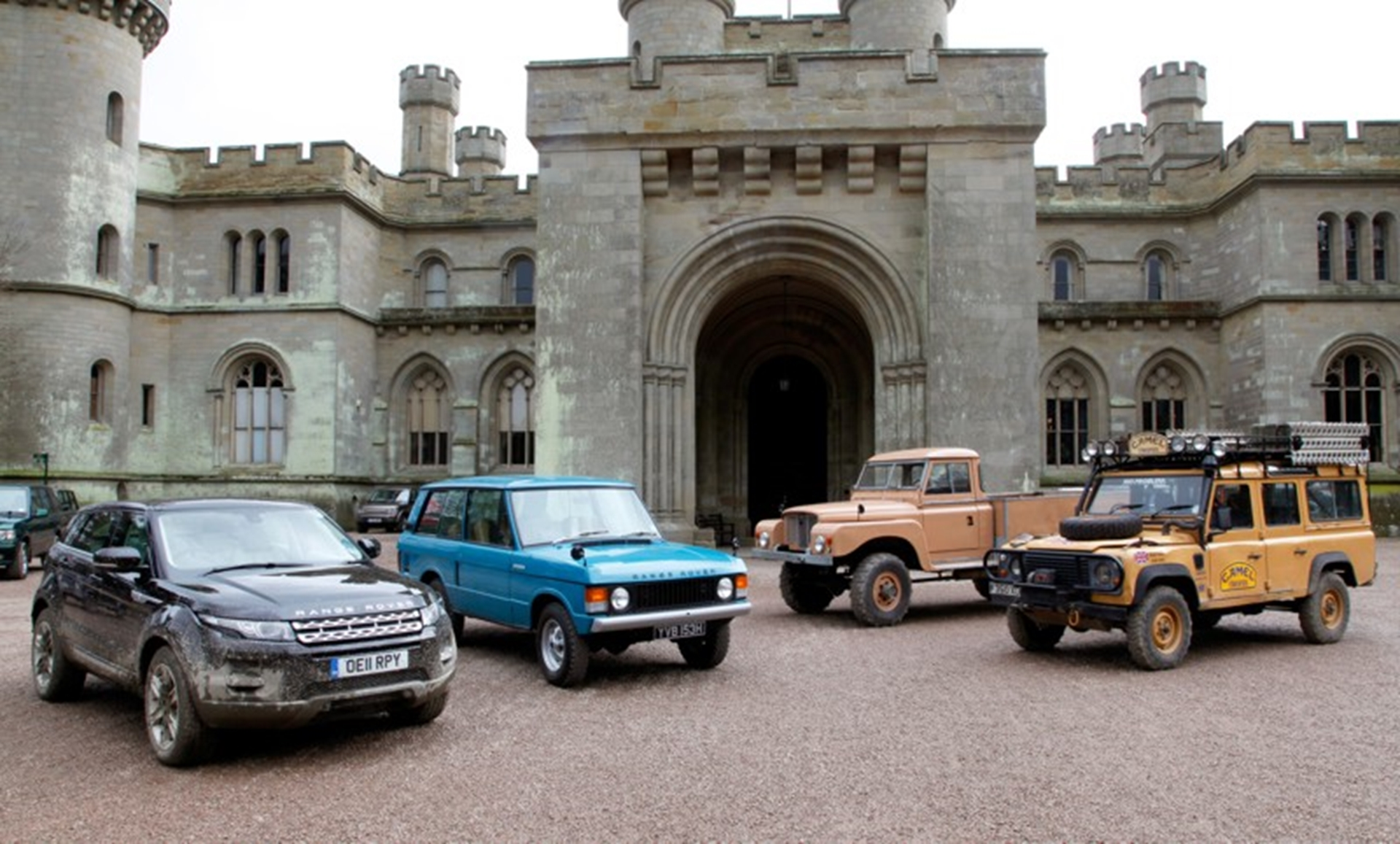 LAND ROVER CELETES 50 YEARS AT EASTNOR CASTLE