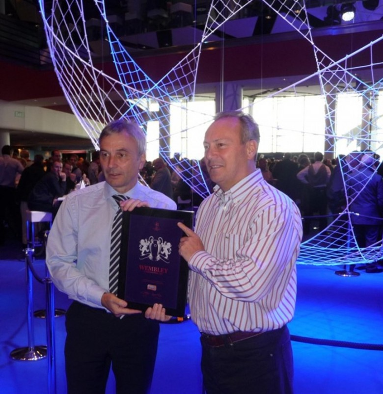 David Taylor, CEO of UEFA Events SA (left) and Stephen Odell