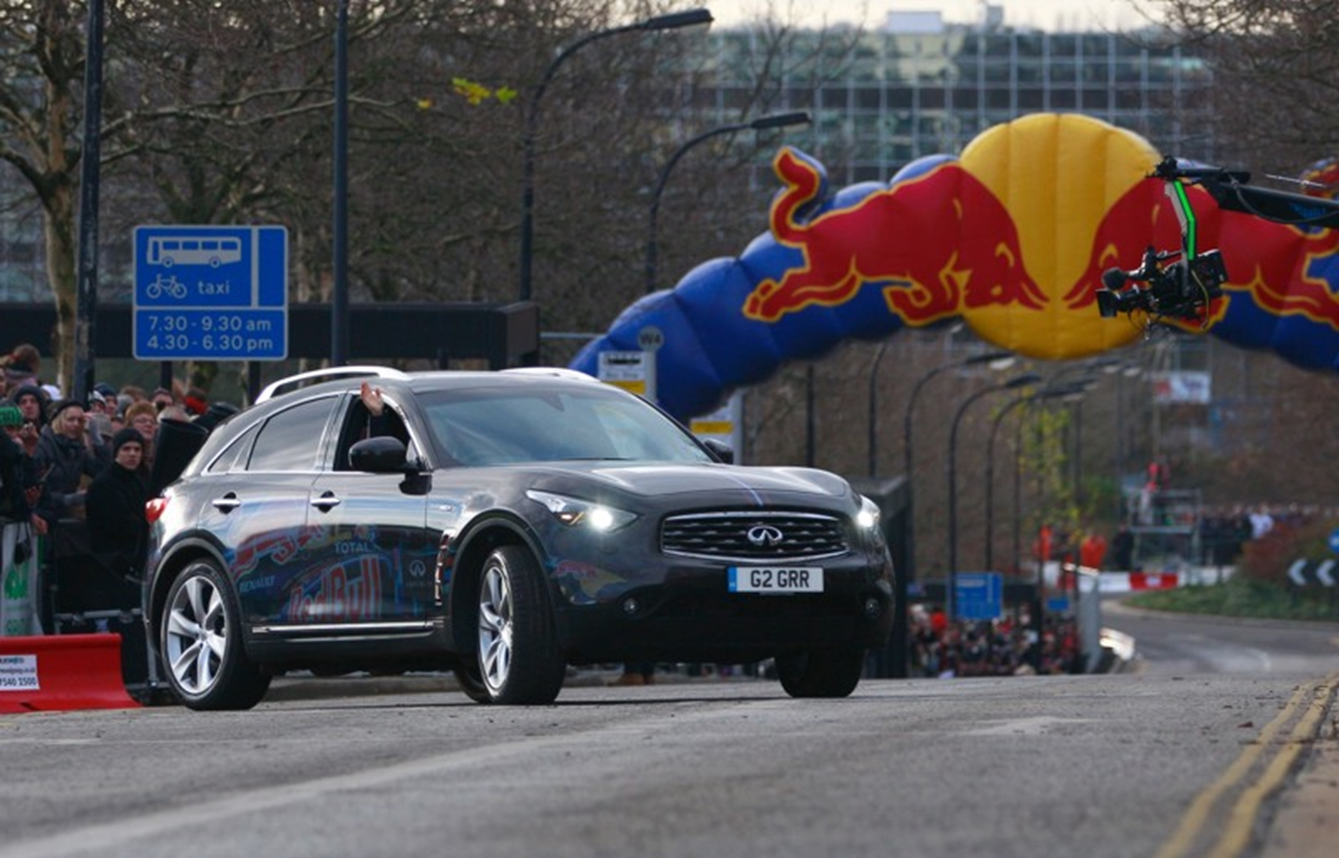 Infiniti and Red Bull Racing took to the city streets