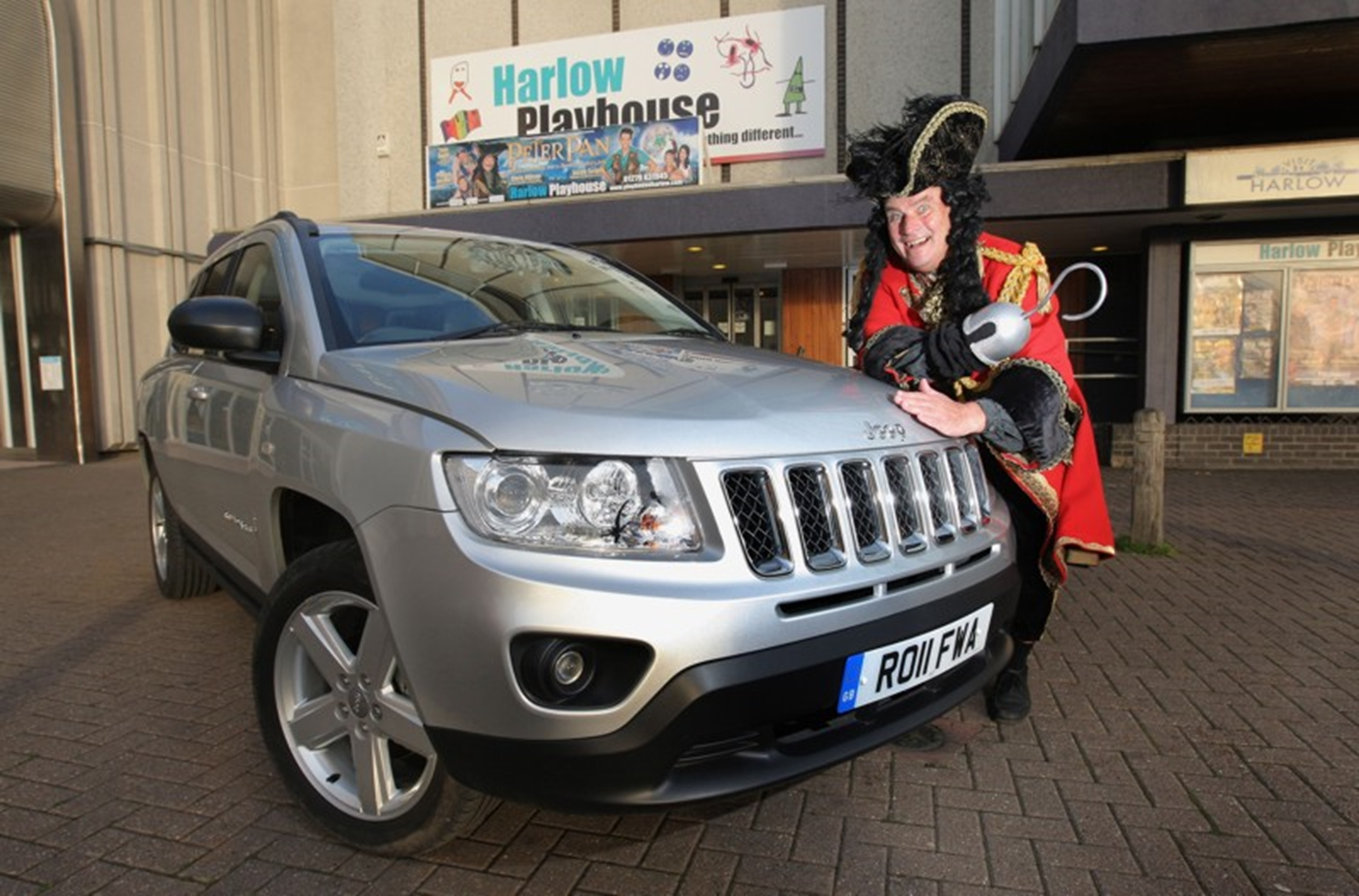 Chris Ellison (Captain Hook) takes delivery of new Jeep Compass