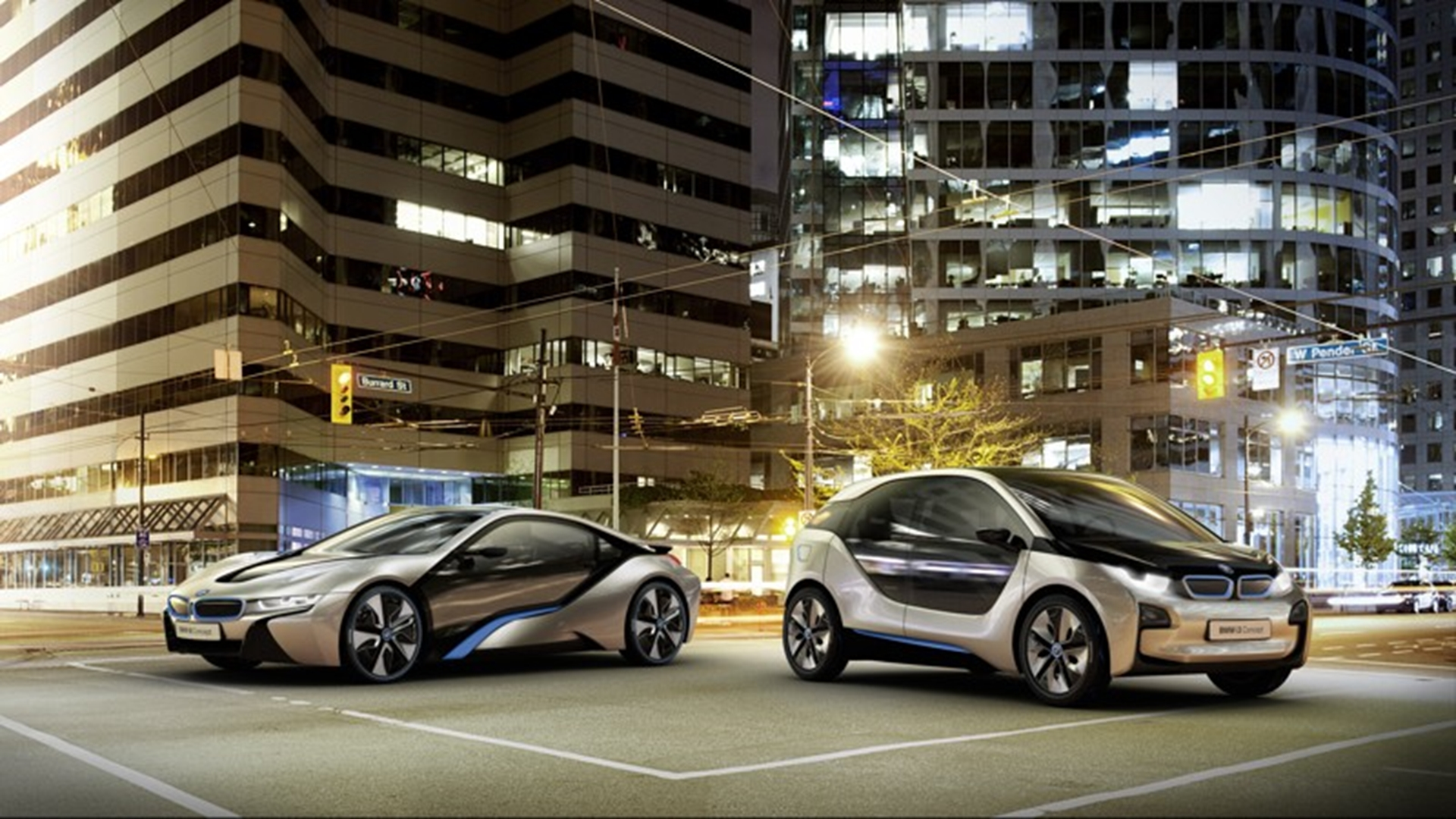 Bmw I3 Concept And Bmw I8 Concept At The North American