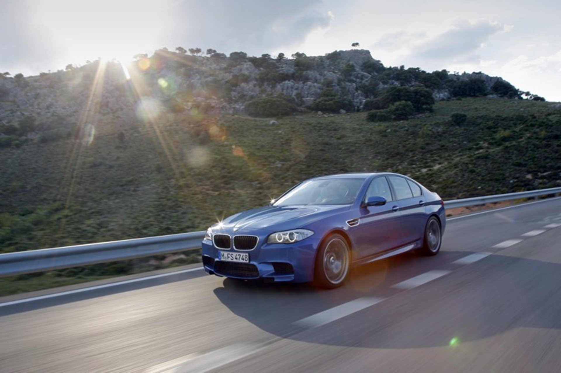 BMW M5 on the road