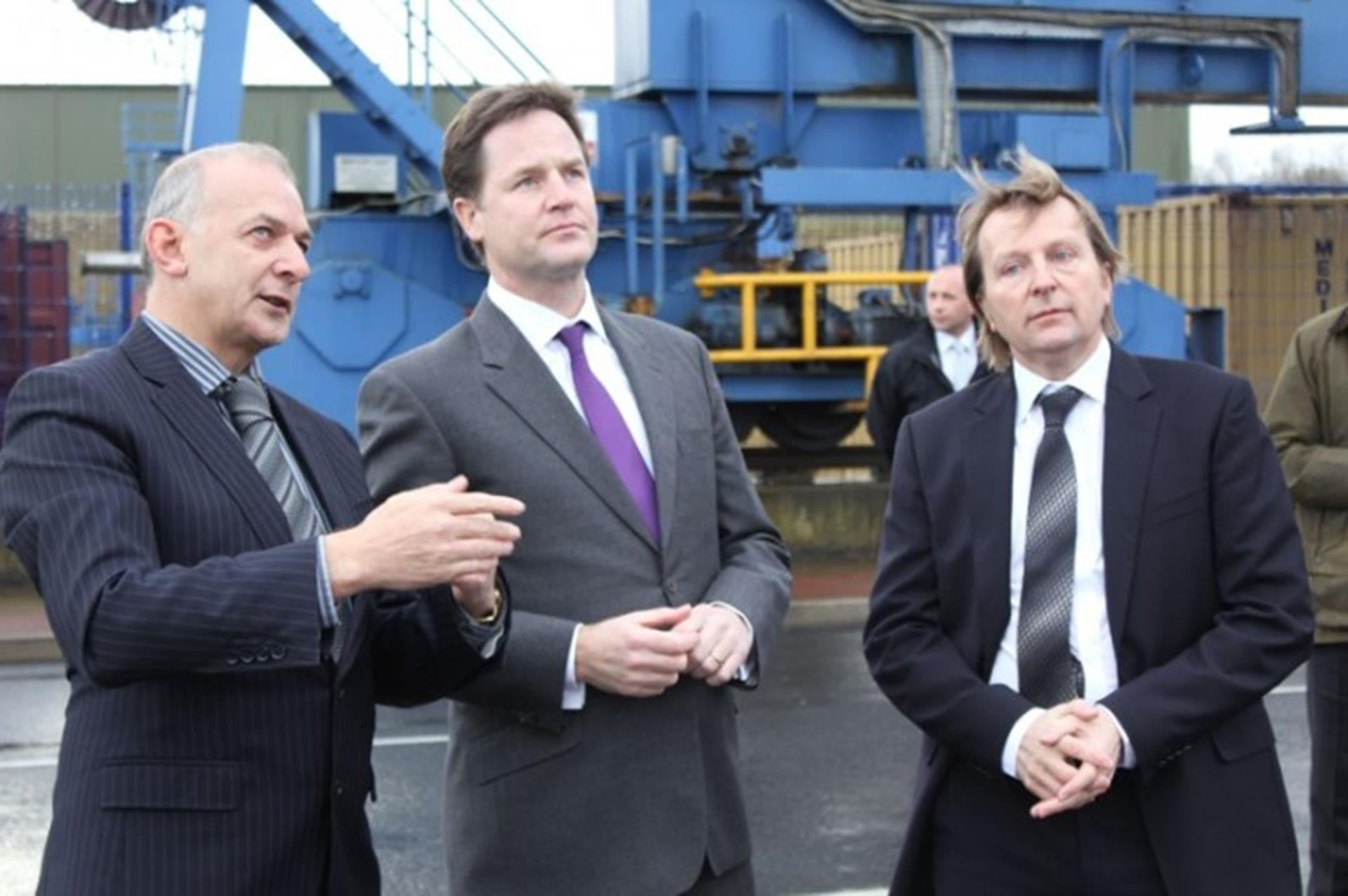 L-R Andrew Tinkler, Chief Executive Officer Stobart Group...