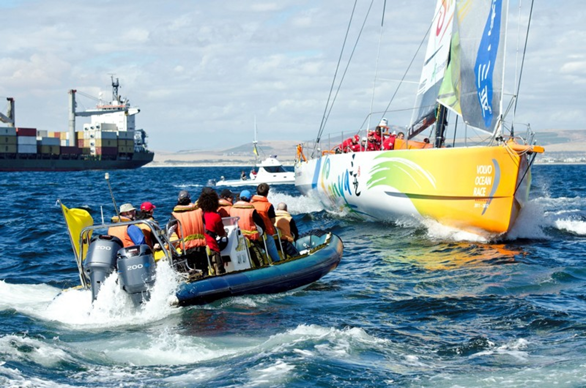 Volvo Ocean Race - Leaving Cape Town