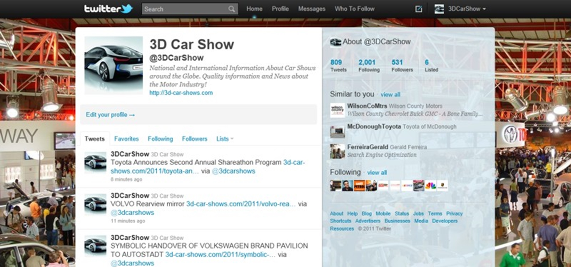 Car Shows on Twitter