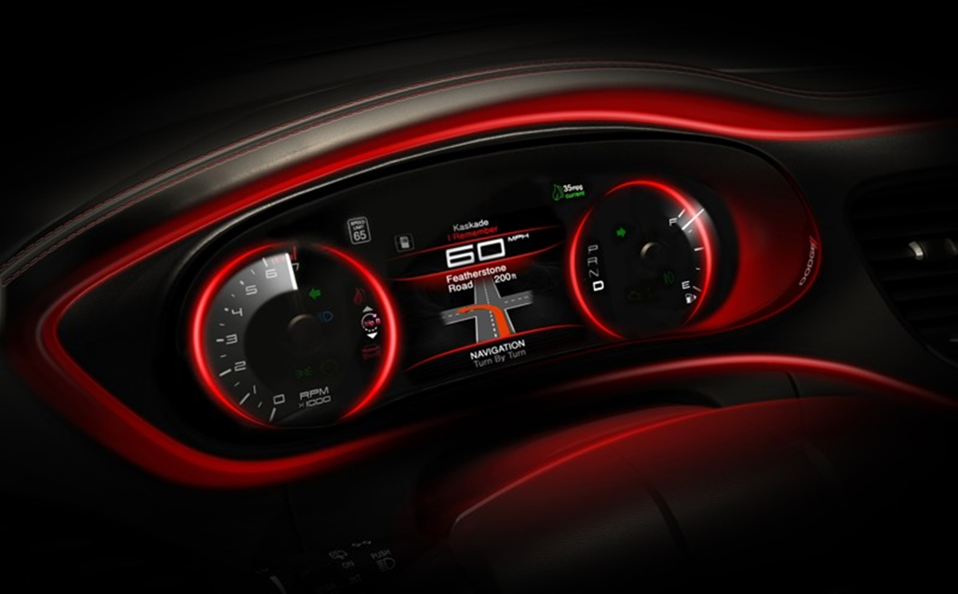 Dodge Dart Interior 2012