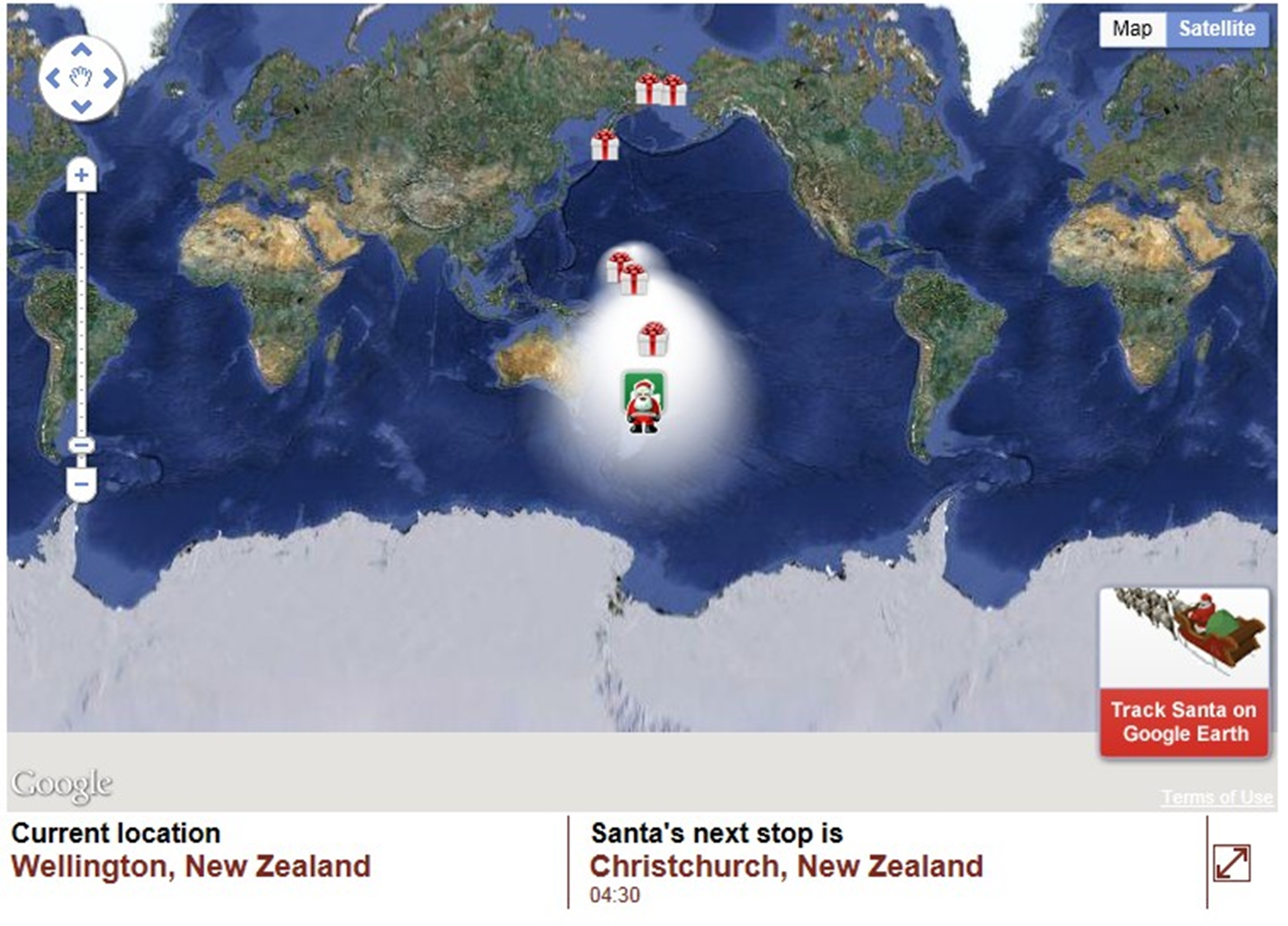 Follow Santa Clause Now in New Zealand