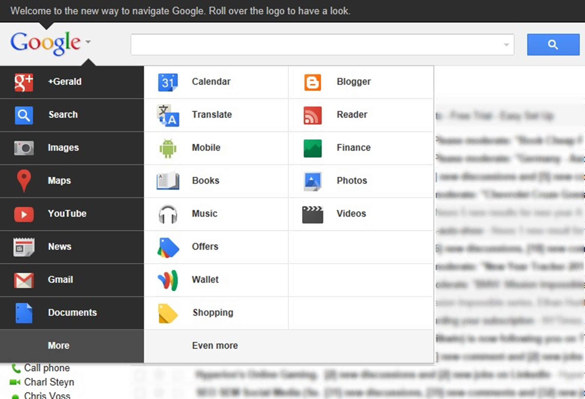 Gmail New Google Look