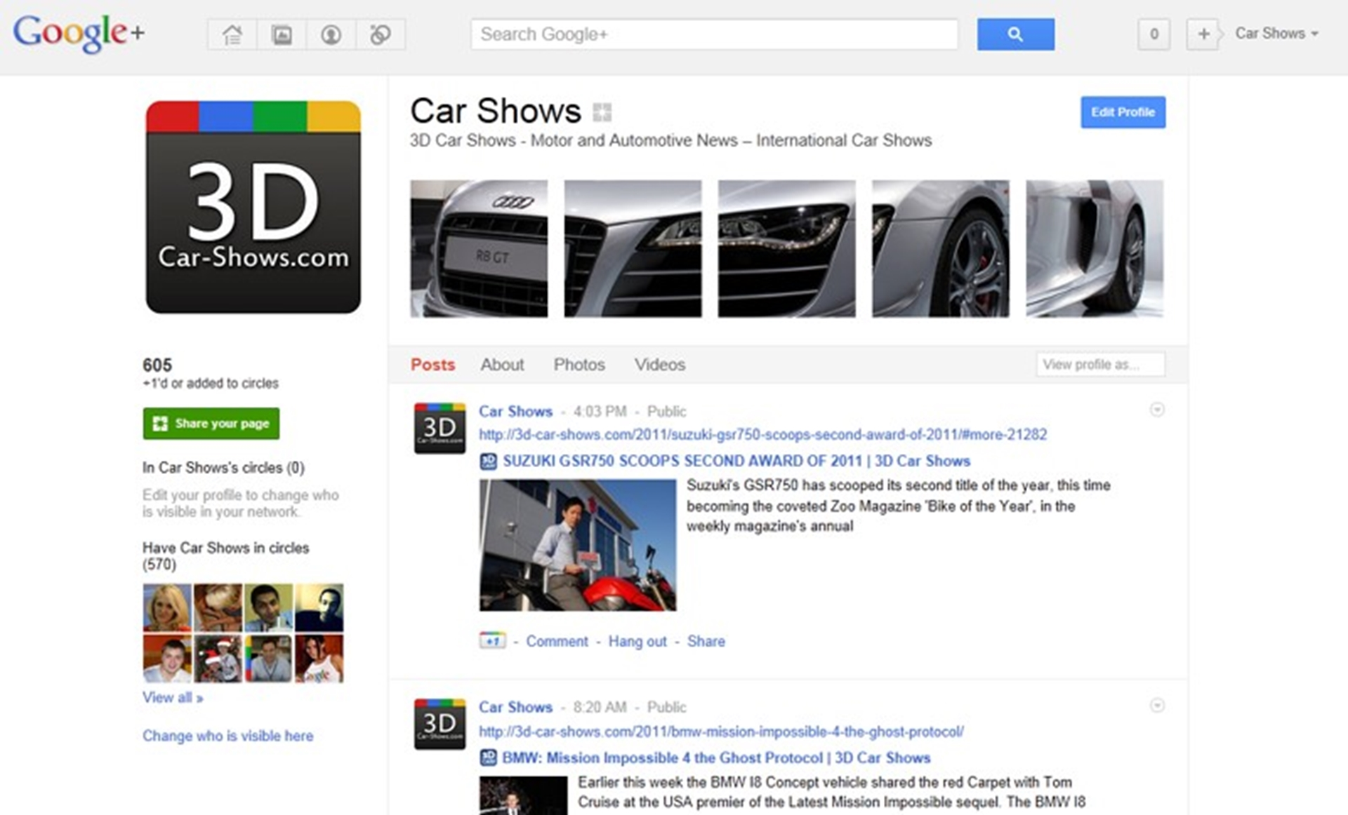 Google+ Pages New Look