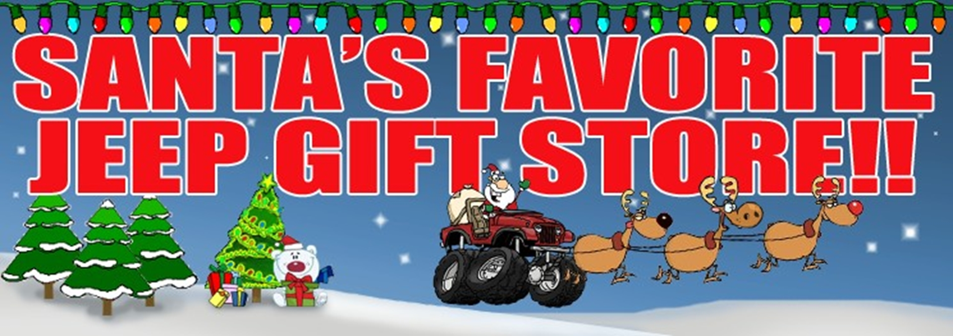 Jeep Christmas Gifts and Merchandise now on sale