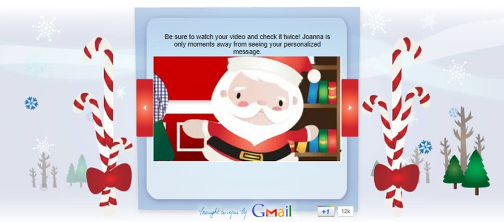 Preview Google Santa Video