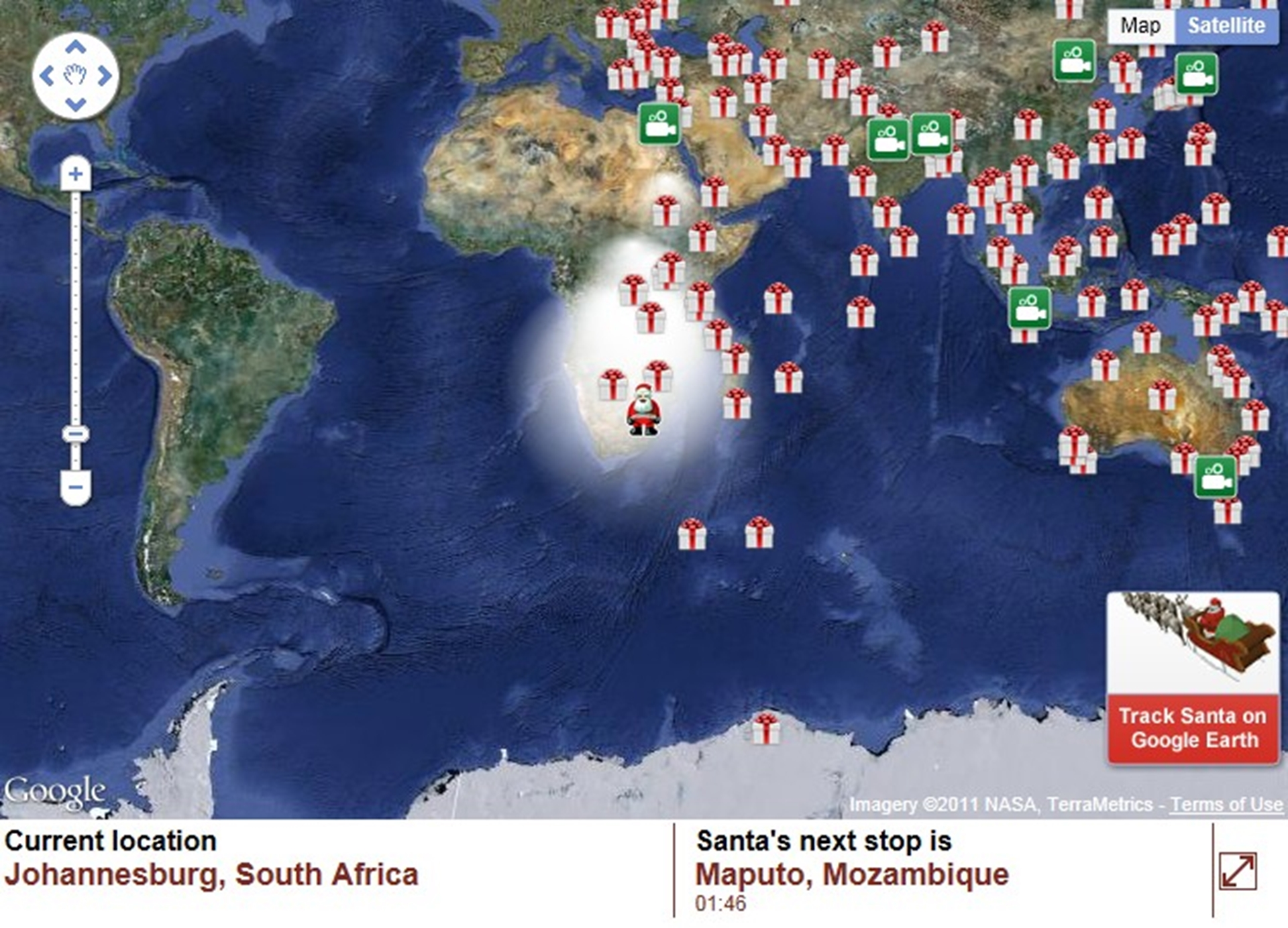 Where Is Santa Right Now South Africa Johannesburg And