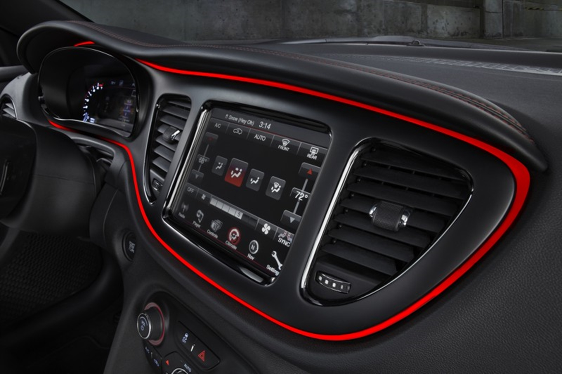 Dodge Dart dashboard
