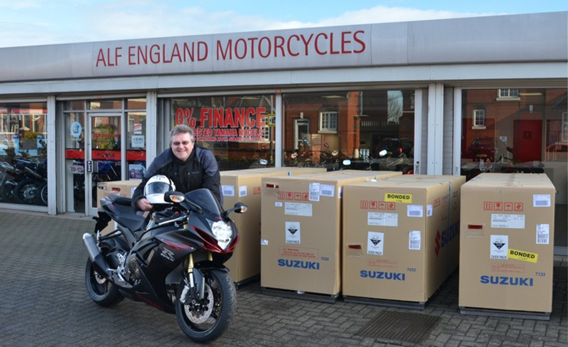 Martin Cole of Alf England Motorcycles with the latest GSX-R750