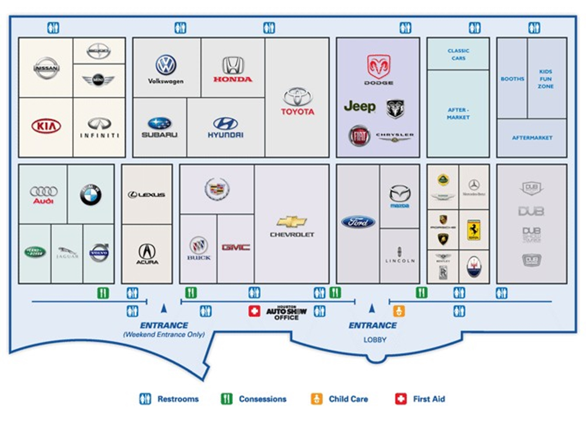Houston Auto Show 2012 Floor Plan