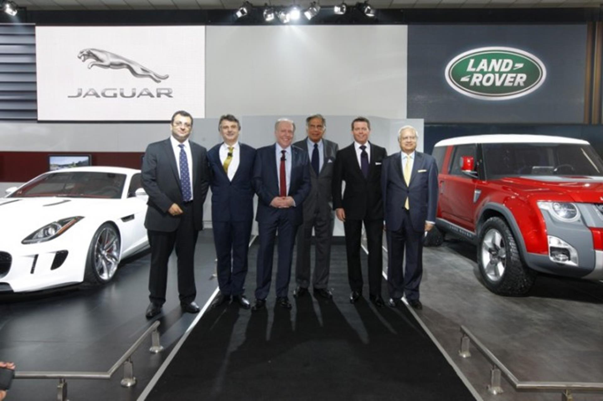 jaguar land rover at the new delhi auto expo