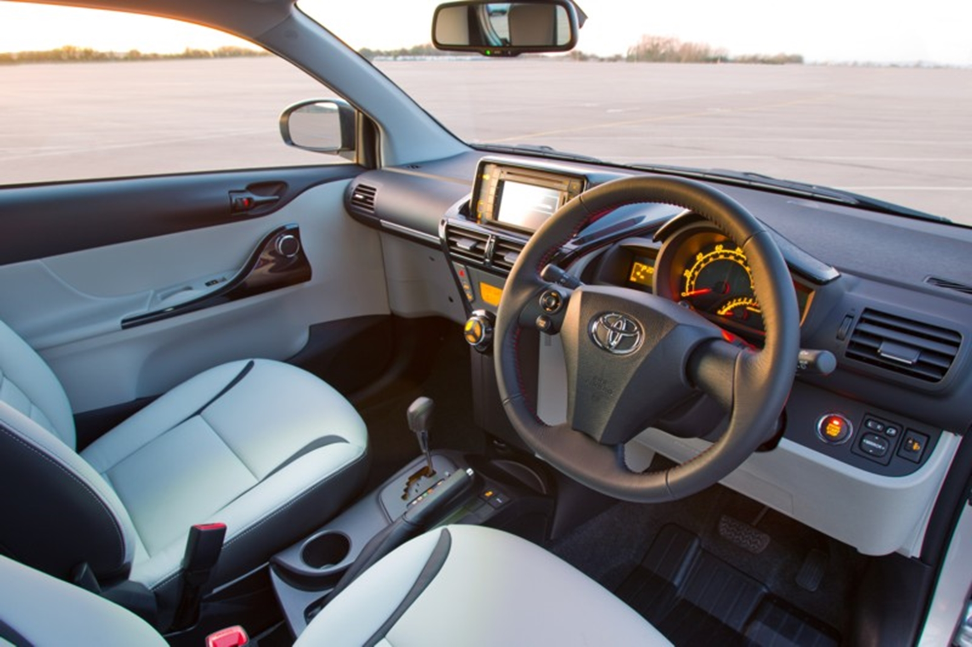 Toyota iQ: Custom leather interior