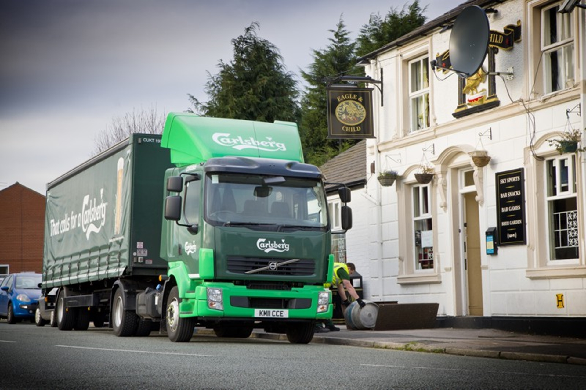 16 new Volvo vehicles entered service with Carlsberg UK Ltd.