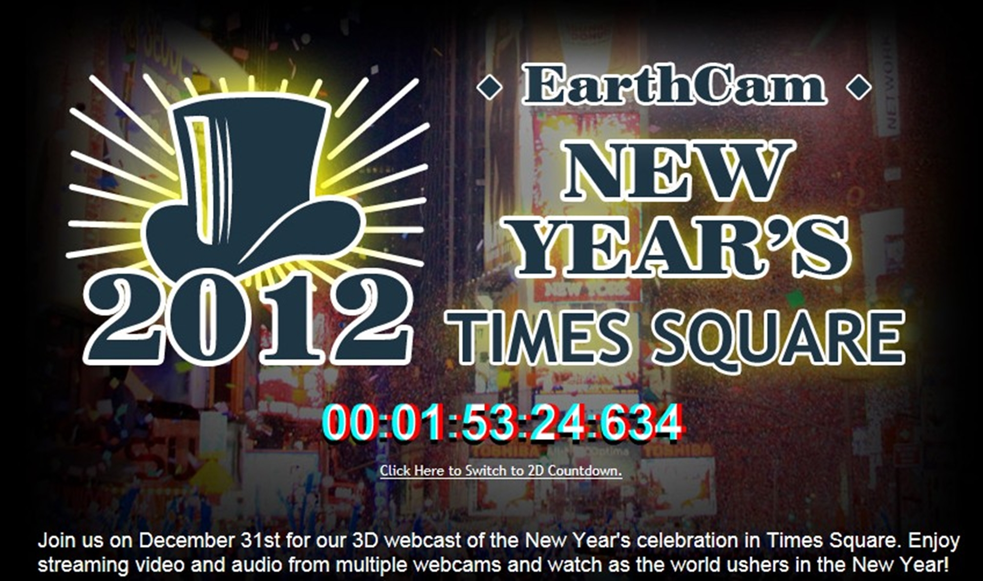 Live Broadcast Ball Drop 2012