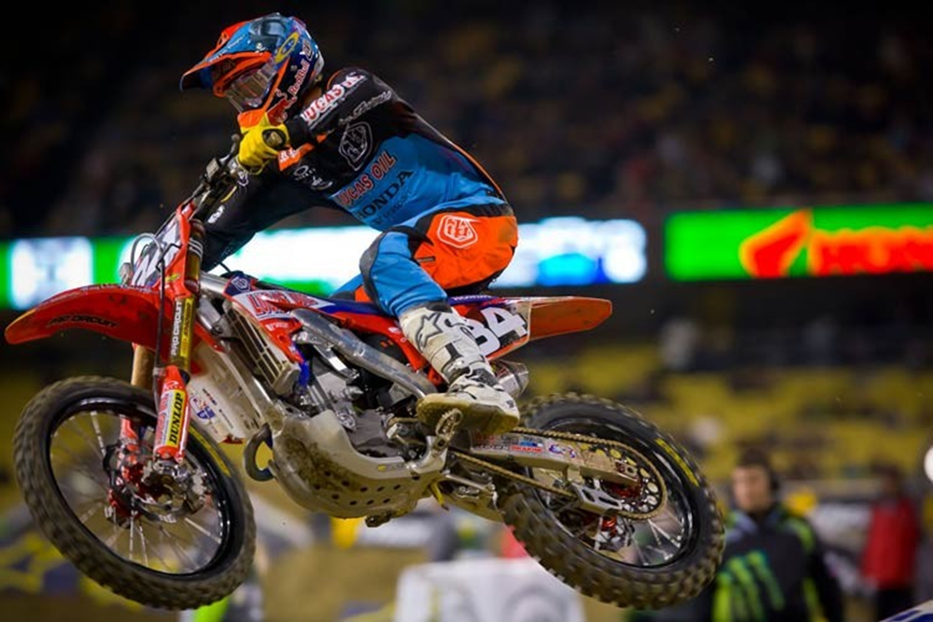 Tough Night at LA Supercross For Troy Lee Designs Lucas Oil Honda