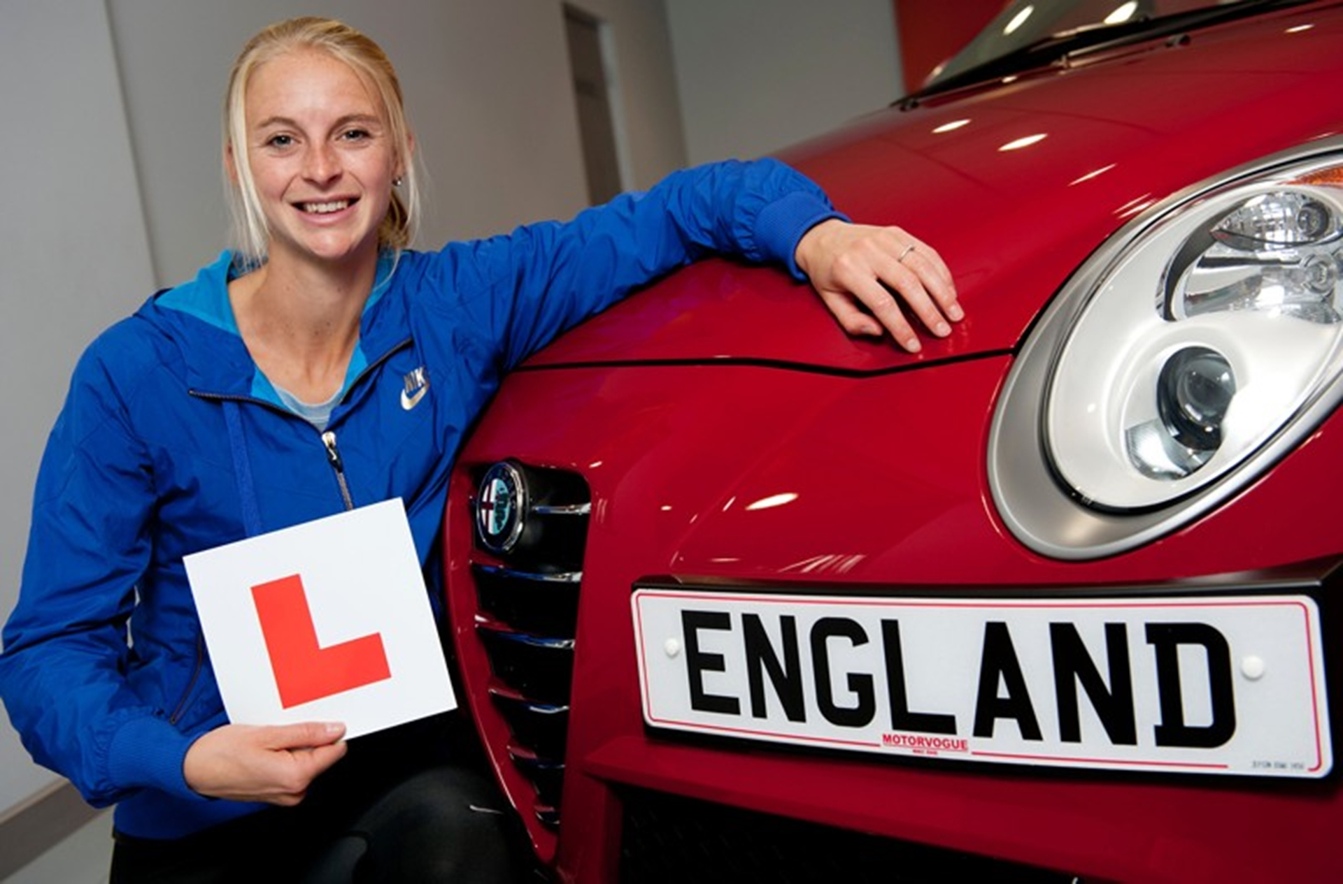 Alfa Romeo UK helps Hannah England learn how to drive