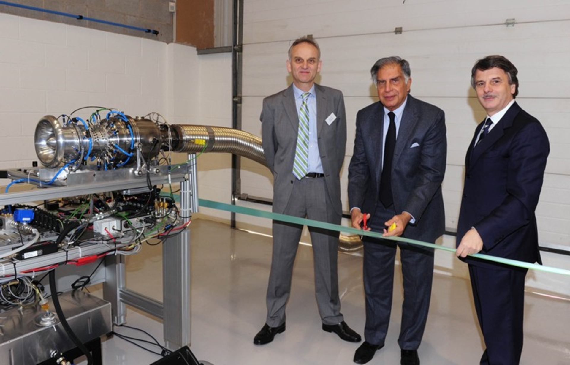 Mr Ratan Tata with Paul Barrett (left) and Dr Ralf Speth